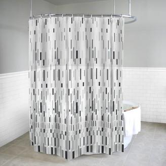 """Splash Home Bars PEVA Shower curtain, 72"""" x 70"""", Grey"""
