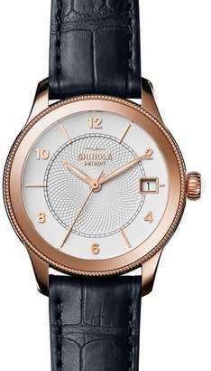 Shinola Gail Leather Strap Watch, 36mm