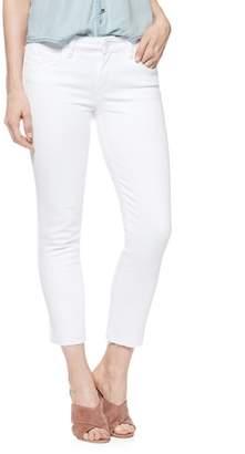 Paige Skyline Raw Hem Crop Skinny Jeans