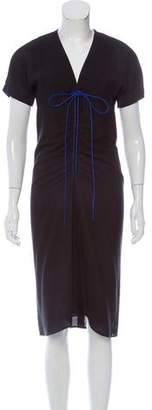 Reed Krakoff Drawstring-Accented Midi Dress