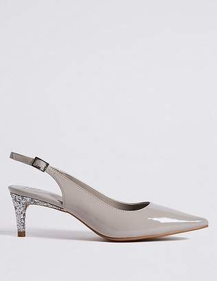 Marks and Spencer Kitten Heel Buckle Slingback Court Shoes