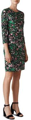 Whistles Adelaide Ruched Floral Dress