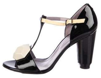 Sonia Rykiel Patent Leather T-Strap Sandals