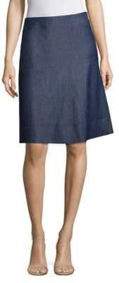 HUGO BOSS Malrehna Chambray A-Line Skirt