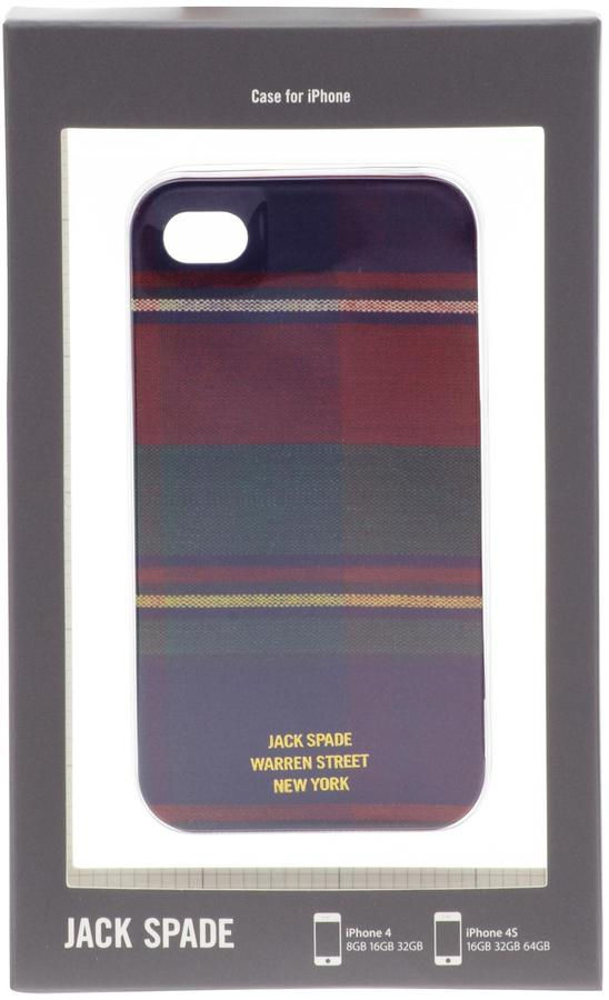 Jack Spade Flannel Plaid iPhone 4 Case