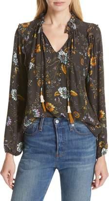 Dolan Lucille Tassel Tie Silk Blouse