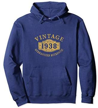 1938 Authentic 80 years old 80th B-day Birthday Gift Hoodies