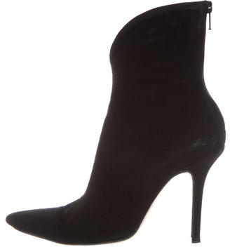 Jimmy ChooJimmy Choo Suede Pointed-Toe Ankle Boots