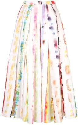 Rosie Assoulin watercolour print skirt