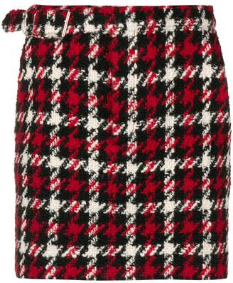 McQ houndstooth mini skirt