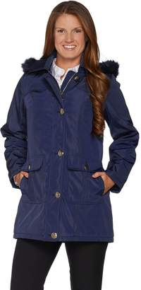 Dennis Basso Water Resistant Coat with Quilted Lining