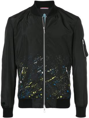GUILD PRIME splatter print bomber jacket