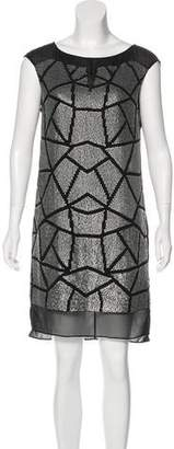 Ali Ro Silk-Trimmed Sequin Dress