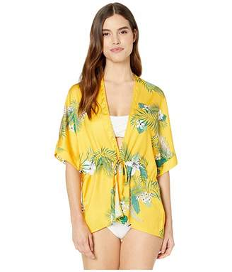 d0246941c3 Plush Silky Floral Beach Kimono Cover-Up Robe