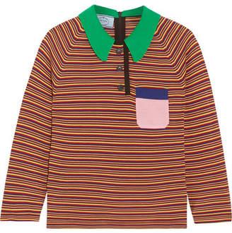 Prada Striped Wool Top - Red