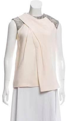 Alexander Wang Draped Silk Top grey Draped Silk Top