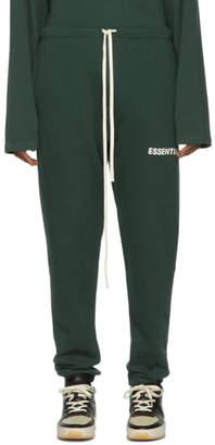 Essentials Green Fleece Sweatpants