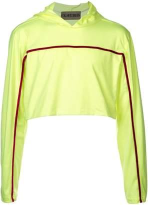 Oloapitreps cropped hooded T-shirt