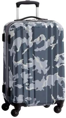 Pottery Barn Teen Channeled Hard-Sided Gray Camo Carry-on Spinner