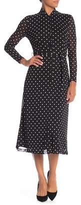 Anne Klein Polkadot Button Down Dress