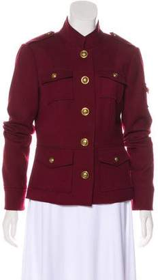 Tory Burch Long Sleeve Button-Up Jacket