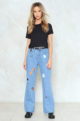 Nasty Gal I Miss You a Hole Bunch Distressed Jeans