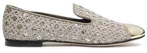 Giuseppe Zanotti Glittered Embroidered Loafers