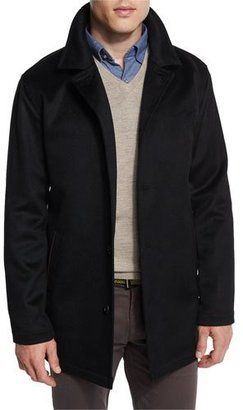 Peter Millar Madison Wool/Cashmere-Blend Trend-Fit Coat $595 thestylecure.com