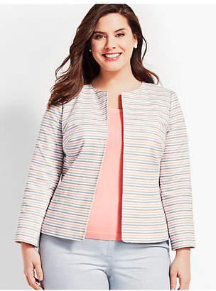 Talbots Striped Biscay Suit Jacket