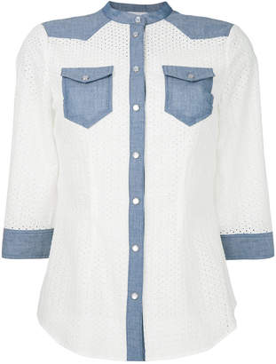 Twin-Set anglaise broderie shirt
