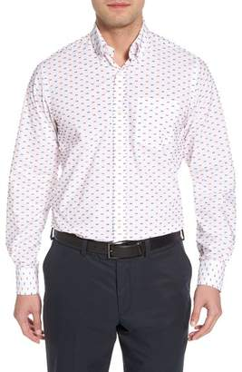 Paul & Shark Regular Fit Feathered Sport Shirt