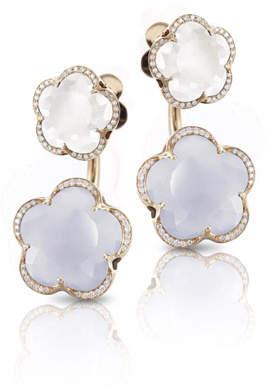 Pasquale Bruni Bon Ton 18k Rose Gold Chalcedony & Quartz Earrings