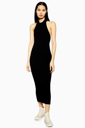 Topshop Womens **Knitted Halter Neck Dress By Boutique - Black