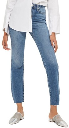 Topshop Women's Dree Raw Hem Crop Flare Jeans