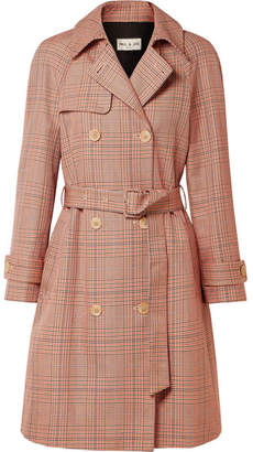 Paul & Joe Checked Cotton-gabardine Trench Coat - Camel