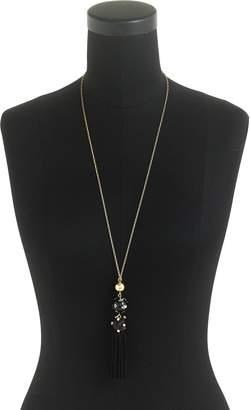 J.Crew Crystal Studded Bead & Tassel Necklace