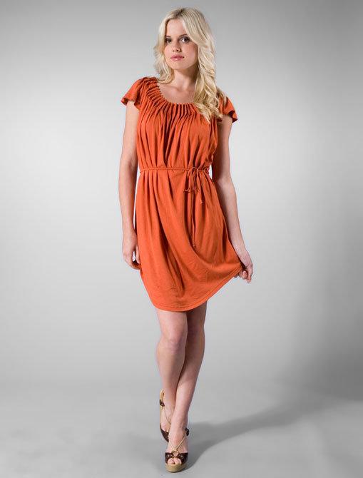 Viridis Luxe Pintuck Grecian Mini in Saffron