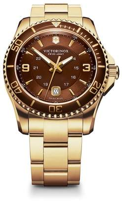 Victorinox Men's Maverick GS Two Tone Bracelet Watch, 43mm