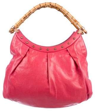Gucci Studded Bamboo Handle Tote Pink Studded Bamboo Handle Tote