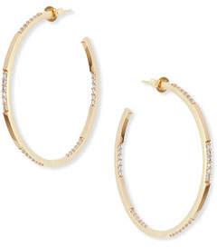 Lana 14K Small Expose Hoop Earrings with Diamonds