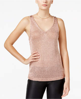 Bar III Metallic Sweater Tank Top, Only at Macy's $69.50 thestylecure.com