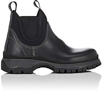 Prada Women's Lug-Sole Leather & Neoprene Chelsea Boots - Nero