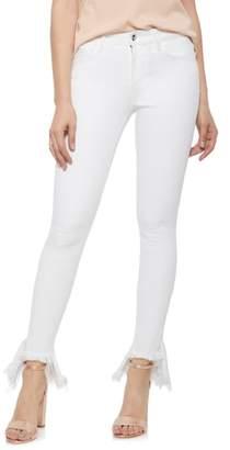 Sam Edelman The Kitten Ruffle Step Hem Skinny Jeans