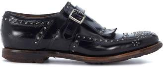 Church's Shanghai Black Leather Loafers With Micro Studs
