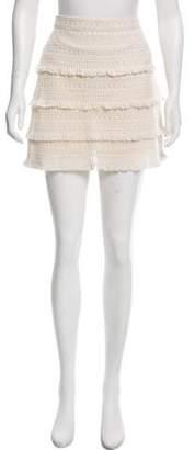 Joie Fringe Mini Skirt