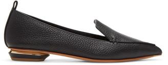 Nicholas Kirkwood Black Beya Loafers $475 thestylecure.com