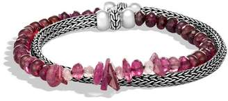John Hardy Classic Chain Double Wrap Bracelet With Mixed Pink