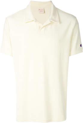Champion logo patch polo shirt