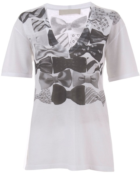 STELLA MCCARTNEY - Oversized bow print t-shirt