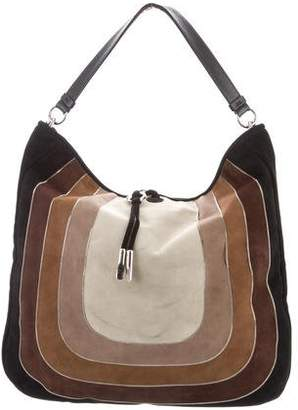 Pre-Owned at TheRealReal · Salvatore Ferragamo Leather-Trimmed Suede Hobo d49673c103712